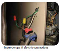 Improper Gas & Electric Connections