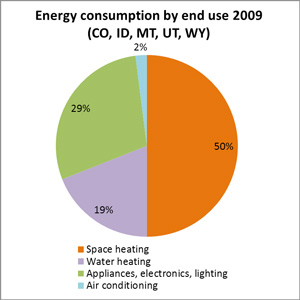 Energy Consumption by end use 2009